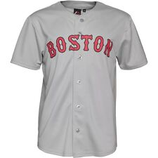 Mens New Majestic Boston Red Sox Baseball MLB Jersey Short Sleeve T Shirt