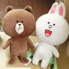 "15""Japan Line Friends Brown Bear White Cony Rabbit Stuffed Plush Doll Toy M"