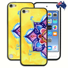 Yellow Mandala Hard Back Case for Apple iPod Touch 5 5th 6 6th Gen Cover