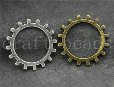 Free shipping 10/40/200pcs Antique Silver Gear Jewelry Charms Pendant DIY 19mm