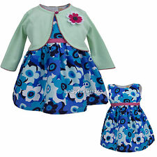 New baby girls Holiday Party dress & cardigan clothing outfit size 3 6 9 months