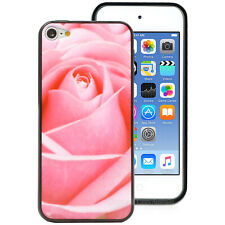 Pink Rose Flower Hard Back Case for Apple iPod Touch 6 6th Gen itouch Cover