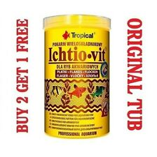 ICHTIO-VIT Complete flakes for all aquarium tropical fish GENUINE TUB - 250ml..