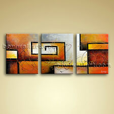 Large 3 pc Modern Abstract Canvas Wall Art Oil Contemporary Framed BoYi