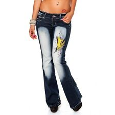 Crazy Age Ladies Low-rise Jeans Impact jeans Bootcut jeans jeans With Stones