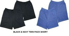 ESPIONAGE MENS TWIN PACK PURE COTTON LIGHTWEIGHT JERSEY SHORTS(034),SIZE 2XL-8XL