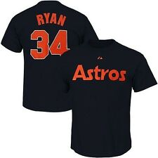 Houston Astros Nolan Ryan #34 MLB Majestic Mens Player Tee Shirt Navy Big Sizes