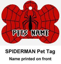 SPIDERMAN Personalized PET ID TAG Custom Any Name Dog Tag Printed 2 Sides