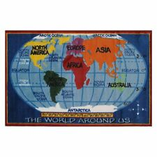 Fun Rugs Supreme TSC-161 Kids World Map Area Rug - Multicolor
