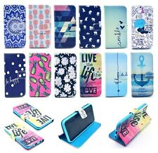 For Apple iPhone Smart Phones Flip Slot PU Leather Wallet Pouch Cover Case Skin