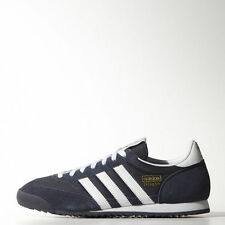 LAST DAY SALE Adidas Originals Dragon NEW Retro Sneakers Navy Blue White Leather