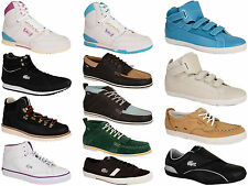 New Mens Lacoste Trainers boots Leather HI Top in Various Styles