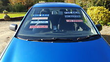 25 Front Windscreen Stickers/Decals for Cars/Commercials - Self Cling Reuseable