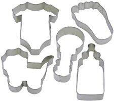 5 Pc Baby One Piece Foot Bottle Rattle Cookie Cutter Set NEW!