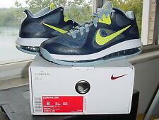 Nike Air Zoom Max LeBron James IX 9 Low Obsidian Cyber White Grey xi 510811 600