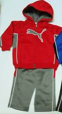 PUMA Boys Warm Sweatsuit Track Style Outfit Set size 18 months Nwt