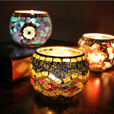 Popular Mosaic Glass Candle Holder Star Tealight Candlestick Home Wedding Decor