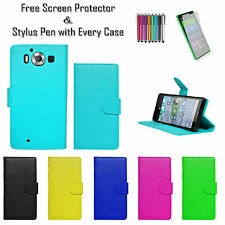 Premium Leather Pu Wallet Tpu Stand Case Cover Card Holder For Nokia Lumia 950