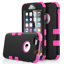 """For Apple iPhone 6 6G 6S 4.7"""" Hard&Soft Rubber Hybrid Armor Impact Case Cover"""