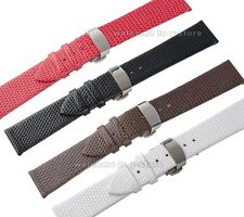 12~20mm Genuine Leather Lizard Grian Push Butterfly Clasp Watch Band Strap