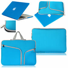 For Macbook Pro 13 Air 11 Retina 15 Rubberized Case Cover +Sleeve Carry Bag Blue