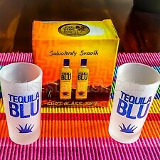 TEQUILA BLU SHOT GLASS SET Multiple Discounts Sets of two shot glasses