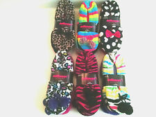 Womens Slipper Socks Dollhouse 2 Pack Peds 9-11 Various Colors Gripper Dots NWT