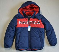 NWT BOYS YOUTH NAUTICA PUFFER OUTERWEAR JACKET WINTER SNOW COAT SZ M-5/6 S-8