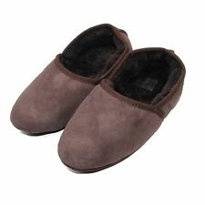 Deluxe Unisex Soft Sole Full Double Faced Sheepskin Slipper - Chocolate