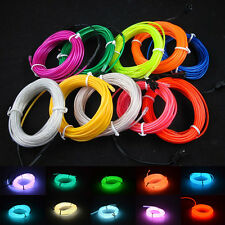 29 - 49ft EL Wire Neon LED Light Glow String Strip Rope Tube + DC 12V Controller