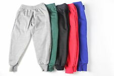 KIDS BOYS GIRLS SCHOOL JOGGING BOTTOMS FLEECE PE SPORTS TROUSERS JOGGERS BOTTOM