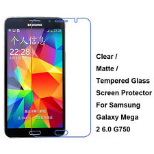 Tempered Glass/Clear/Matte Screen Protector For Samsung Galaxy Mega 2 6.0 G750