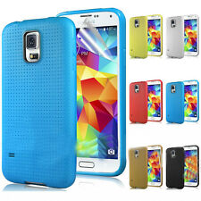 TPU Soft Silicone Gel Back Case Cover Rubber Skin For Samsung Galaxy S5 i9600