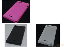 Multi Color Matting TPU Gel CASE Cover For Sony Xperia J ST26i