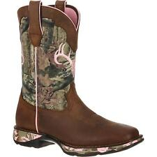 Durango Women's Lady Rebel Leather Cowboy Western Boots Brown Como DRD0051