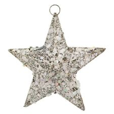 Wire And Glitter Thread 20cm Star Shape Christmas Tree Topper Decoration