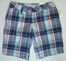 Womens AEROPOSTALE Bright Plaid Bermuda Shorts NWT #8196