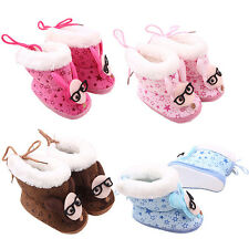 Winter Infant Baby Boots Girls Cute Pattern Warm Soft Sole Crib Shoes 0-12M S71