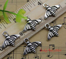 30/60/100pcs retro style Lovely small flying insect alloy charm pendant 14x18mm