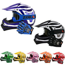 LEO Childrens Kids MOTOCROSS HELMET GOGGLES GLOVES Off Road ATV BMX Dirt Bike