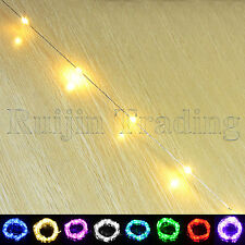 Warm Battery Power Operated Metal Wire LED String Fairy Lights Christmas Xmas