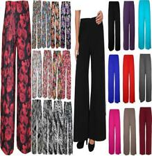 NEW LADIES WOMENS FLORAL PRINT PALAZZO WIDE LEG TROUSERS PANTS PLUS SIZE UK 8-26