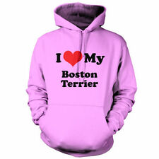 I Love My Boston Terrier - Unisex Hoodie / Hooded top - Dog - Puppy - Canine