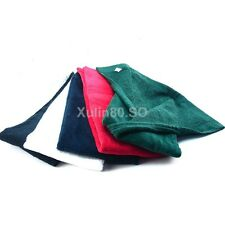 2015 New Tri-Fold Golf Sports Hiking Cotton Towel With Hanging Carabiner Ring