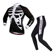 NEW Sport Team Cycling Bike Comfortable Clothing Long Sleeve Jersey+Long Pants
