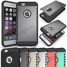 Hybrid Heavy Duty Rubber Shockproof Armor Shield Case Cover For iPhone 6 6S Plus