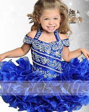 Beaded infant kids children girls mini party pageant dresses ball gowns cupcakes