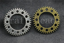 Lot 6/20/100pcs Vintage Steampunk Gears Altered Premium Gear Jewelry Charms 25mm