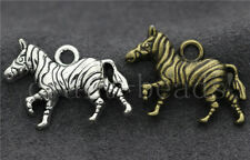 5/20/100pcs Tibetan Silver Beautiful Zebra Jewelry Charms Pendant Craft 31x21mm