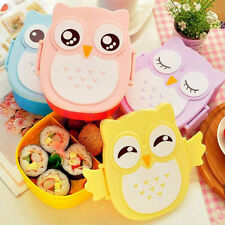 900ML Owl Lunch Box Bento Food-safe Plastic Food Picnic Container Box Spoon Gift